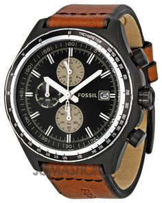 Fossil Dylan Brown Leather Mens Watch CH2729