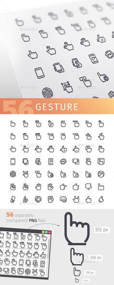 Gesture Line Icons Set
