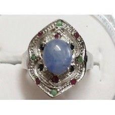 7.280 Gms Natural Srilankan Sapphire Ring in 925 Sterling Silver Ring