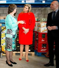 Queen Maxima of The Netherlands visited a winning project of the Appeltjes van Oranje 2015 support foundation Food focus on April 14, 2015 in Amersfoort, The Netherlands. (Food Focus Amersfoort is associated with the Food Bank Netherlands, an non-profit organization that distributes food to those who have difficulty purchasing enough food. Queen Maxima give the foundation 21 May the Appeltje van Oranje award in palace Noordeinde)