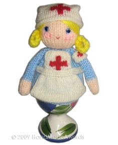 Lovely Maureen  NURSE Egg Cosy Pdf Email Knit by HandMadeAwards, $3.50