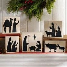 Image result for nativity scene painted on wood pallets
