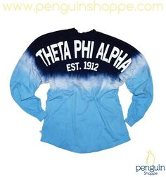 Just In!! Theta Phi Alpha Blue Ombre Coastal Jersey