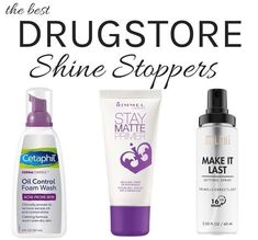 From mattifying foundation and primer to face wash & mask, here are the best drugstore oil control products that really keep unwanted shine away for hours! Oily Skin Care, Acne Prone Skin, Skin Care Tips, Dry Skin, Oily Skin Makeup, Skin Tips, Combination Skin Care, Skin Treatments, Acne Treatment