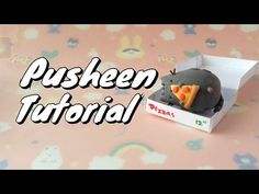 Pusheen Cat Eating Pizza in a Box polymer clay tutorial