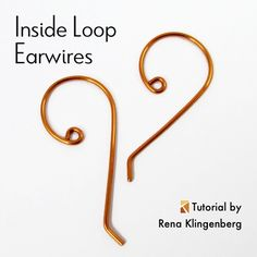 Inside Loop Earwires - tutorial by Rena Klingenberg
