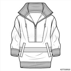 Jacket Outer fashion flat sketch template - 이 스톡 벡터 구입 및 Adobe Stock에서 유사한 벡터 검색 | Adobe Stock Clothing Templates, Clothing Sketches, Flat Drawings, Flat Sketches, Kleidung Design, Cute Work Outfits, Fashion Sketchbook, Fashion Portfolio, Fashion Design Sketches