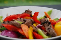 beef and blackbean sauce with mixed peppers