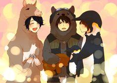 DGS ~ Daisuke Ono (小野 大輔 )❤ and Hiroshi Kamiya (神谷 浩史)  and Nakamura Yuuichi (中村悠一) So cute! Polar Bear Cafe, Hiroshi Kamiya, Kawaii, Beautiful Voice, Voice Actor, Good People, Japanese, Actors, Manga