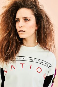 """E Nation's """"United in Sports"""" Collections: Peep the New Era collab, too. Girls Tees, Active Wear, Sporty, The Unit, T Shirts For Women, Hoody, Shirt Ideas, Nova, Clothes"""