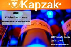 Crazy wine promo every thursday wine bottles are 50% off