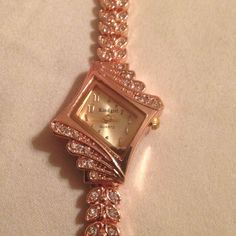 Gorgeous New Rose Gold Crystal Dress Watch #KindGirl #LuxuryDressStyles