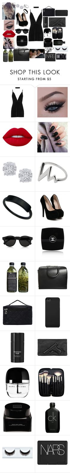 """My old lover Irene Adler"" by annaconley on Polyvore featuring Boohoo, Lime Crime, Effy Jewelry, Illesteva, Chanel, AMBRE, Maison Margiela, Incase, Tom Ford and Vlieger & Vandam"