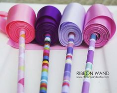 Ribbon Wands- these are SO FUN!
