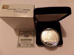 .999 Fine Silver New England Patriots Super Bowl Champions XXXVI 36 Coin