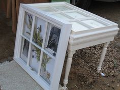 Old window coffee table and/or shadow box to hang on wall.  WOW!  I love both!