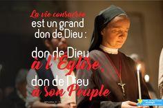 La vie consacrée est un grand don de Dieu : don de Dieu à l'Église, don de Dieu à son Peuple. Pape François @Pontifex_fr 2 fev. #papeFrancois #Pontifex ➡ RDV sur pontifexenimages.com pour recevoir les images par ✉ email