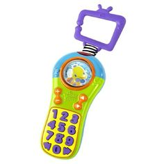 Bright Starts Click & Giggle Remote 1 ea 3pk. Now Baby Can Play Just Like Mom & Dad with This Cute Remote Control!. Ages: 3 Months & Up. Large, Easy to Press Buttons Activate 25+ Melodies, Numbers, & Silly Sounds. Spinning Roller Ball. Introduces Baby to Numbers.