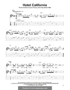 Hotel California - The Eagles - Guitar Tabs with vocal melody line Easy Guitar Tabs, Music Tabs, Easy Guitar Songs, Guitar Chords For Songs, Guitar Lessons, Music Music, Ukulele Tabs, Music Theory Guitar, Guitar Sheet Music