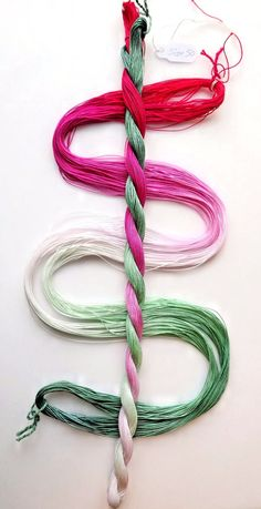 Size 50 Candy Mint hand dyed thread tatting crochet by yarnplayer