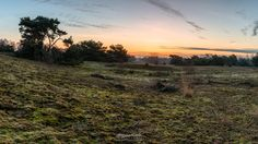 Photo Panorama Bergerheide Sunrise in nature reserve Bergerheide part of National Park De Maasduinen by William Mevissen. Landscape and Nature Photography at www.williammevissen.nl.