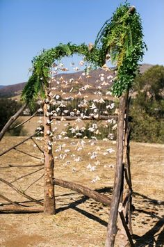 hanging flower wedding arch