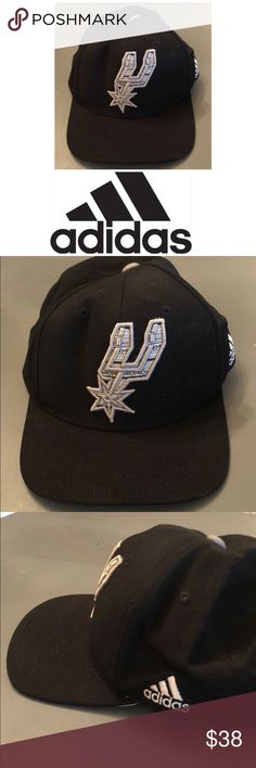 huge discount 9f2b8 b6ab8 Spurs adidas baseball cap NWOT Spurs adidas baseball cap Black Embroidered  Design underside of bill adidas Accessories Hats