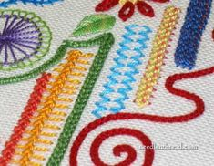 Working Random Stitch Samplers - They're Fun! They're Relaxing! And best of all: there are no real rules to worry about!