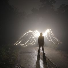 Angel wings of light. Angels Among Us, Angels And Demons, Dark Angels, Light Painting Photography, Art Photography, Conceptual Photography, Famous Photography, Experimental Photography, Jace Lightwood