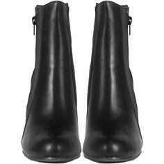 Leatherette Ankle Wedge Booties (1.585 RUB) ❤ liked on Polyvore featuring shoes, boots, ankle booties, wedge heel booties, wedge sole boots, black pleather boots, leatherette boots and black wedge booties