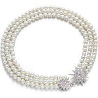 Kenneth Jay Lane 18-inch Triple Strand Pearl And Star Necklace$195More details
