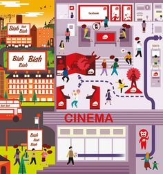 the cinema experience as a consumer journey Cinema Experience, Customer Experience, Infographics, Maps, Crushes, Journey, Colour, Big, Business