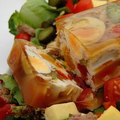 What is Aspic? - Vintage Recipes and Cookery Hungarian Recipes, Russian Recipes, Hungarian Food, Appetizer Recipes, Appetizers, Snack Items, Vintage Recipes, Vintage Food, Food Cakes