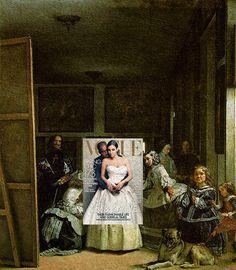 La Boda Kim Kardashian and Kanye West, Vogue April 2014 + Las Meninas (The Maids of Honour)by Diego Velázquez