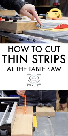 Custom Thin Ripping Jig, super easy jig to safely make thin cuts at the table saw. jigs table saw Thin Ripping Jig — Custom Woodworking Jig Plans, Easy Woodworking Projects, Woodworking Furniture, Woodworking Tools, Wood Projects, Woodworking Jigsaw, Woodworking Equipment, Woodworking Machinery, Youtube Woodworking