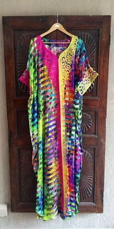 Hey, I found this really awesome Etsy listing at https://www.etsy.com/listing/272390024/silk-rainbow-embroidered-kaftan-long