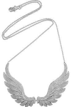 Anita Ko  Wings 18-karat white gold diamond necklace  $15,400  Set with snaking rows of 2.87-carat diamonds, Anita Ko's 18-karat white gold wing necklace bridges the gap between classic and contemporary. This treasure-forever piece will make a dazzling focal point, so show it off with a strapless gown and an elegant updo.