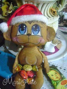 Игрушка Мастер-класс Шитьё Ароматная обезьянка М К Клей Кофе Краска Ткань фото 1