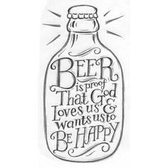 Beer Print Pencil Drawing by Alexandra Snowdon, via Flickr