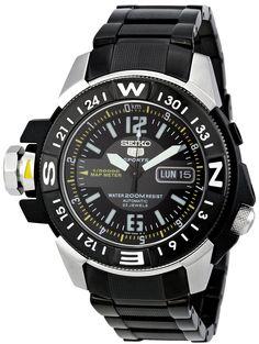 Seiko Men's Black Dial Seiko 5 Watch