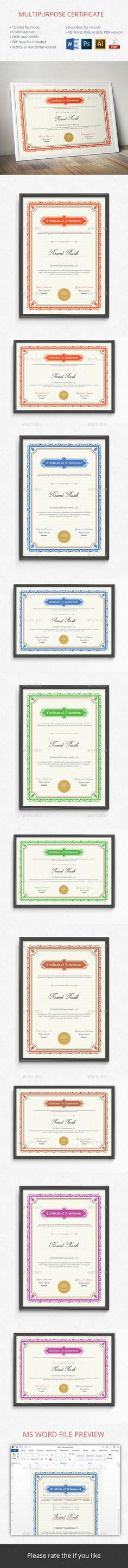 Certificate Certificate templates, Certificate design and Font logo - corporate certificate template