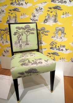 Sheila Bridges: Harlem Toile de Jouy fabric, 2001 by chris Classic Home Decor, Classic House, American Interior, Plank Flooring, Home Decor Fabric, Weathered Wood, Boho Decor, Life Is Good, Dining Chairs