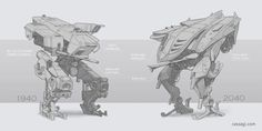 Mech concept by Cassagi
