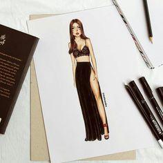 Dress Design Drawing, Dress Design Sketches, Fashion Design Sketchbook, Fashion Design Drawings, Fashion Sketches, Art Sketches, Fashion Drawing Dresses, Fashion Illustration Dresses, Fashion Illustrations