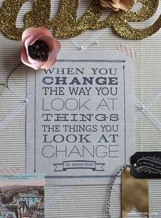 FREE Printable Change Quote