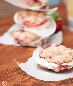 Buns In My Oven Strawberry Shortcake Cookies & Ice Cream Sandwiches — Buns In My Oven