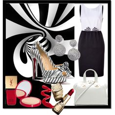 """B & W Always In Style"" by jacque-reid on Polyvore"