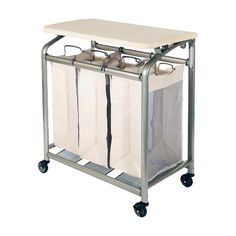 Seville Classics 3 Bag Laundry Sorter with Folding Table & Reviews | Wayfair