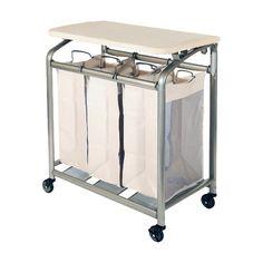 Seville Classics 3 Bag Laundry Sorter with Folding Table & Reviews | Wayfair