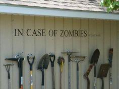 Garden tools rack, in case of Zombies !   1001 Gardens